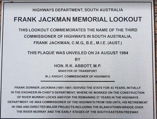 Frank Jackman Memorial Lookout