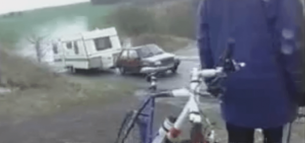 Can a Renault 5 tow a Large Caravan Uphill?