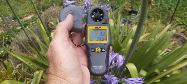 NDI Anemometer KG 280A For Testing Wind Speed and Temperature