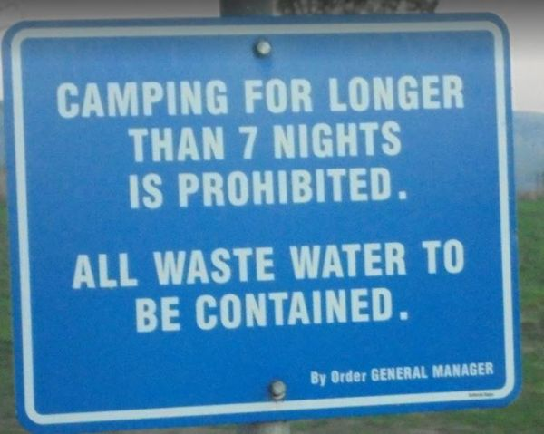 Bethune Park Camping Area