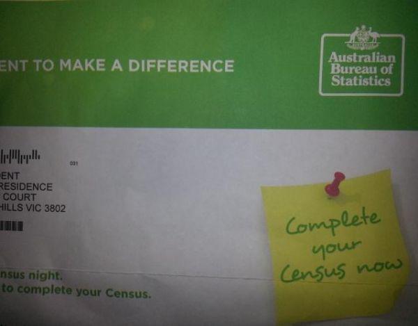 ☹️ Australian Census Missed the Date Letter