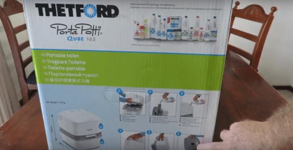 Thetford Porta Potti Qube 165 Portable Camping Toilet