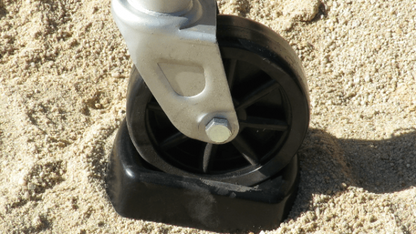 SCA Jockey Wheel Rubber Chock Suitable for Caravan and Trailers