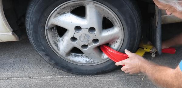 SCA Anti Theft Car Wheel Lock for Cars, Caravans,Trailers etc