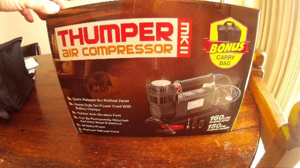 High Pressure Tyre Pump 12volt Thumper MKII